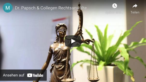 YouTube Dr. Papsch & Collegen - Rechtsanwälte Dr. Papsch & Collegen